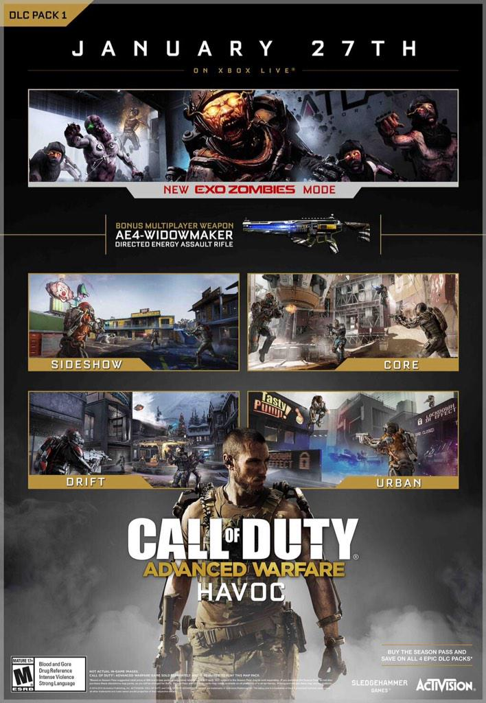 on call of duty advanced warfare new map pack