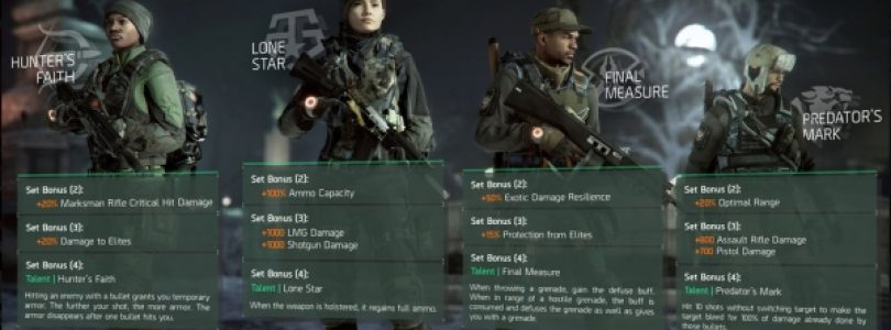 Ubisoft details new gear sets in The Division 1.2 update