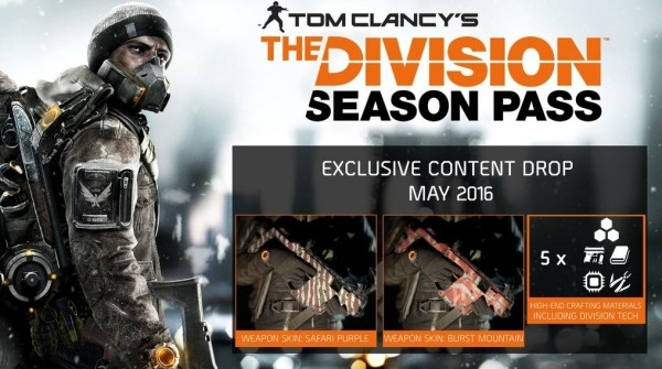 The Division season pass content for May available now