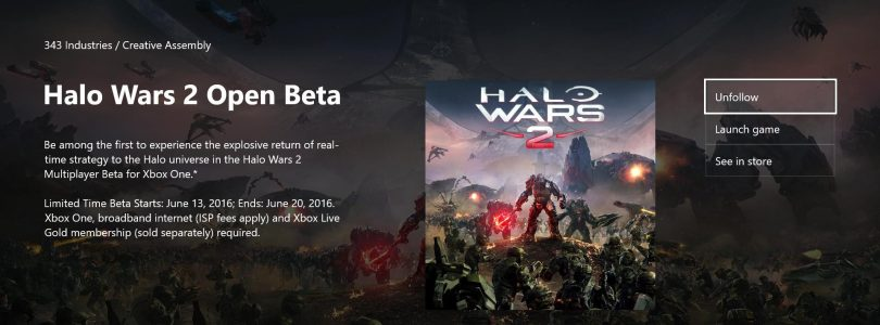 Halo Wars 2 Open Beta dates leaked