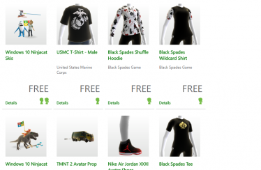 Loads of free Avatar items are available on Xbox LIVE