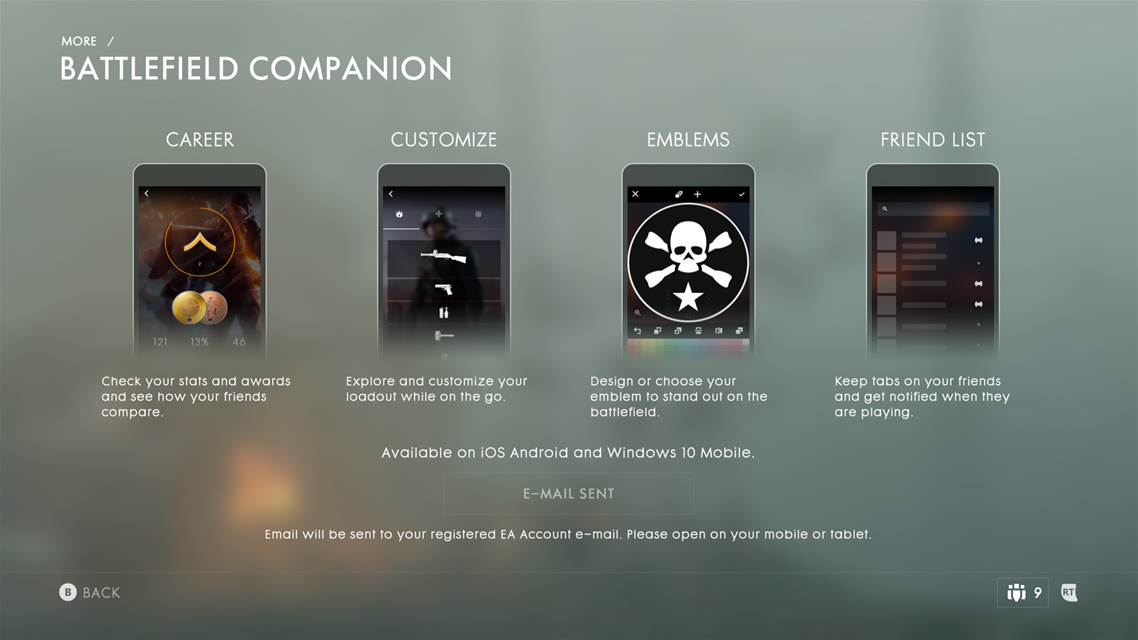 Battlefield Companion App Available On Mobile Devices