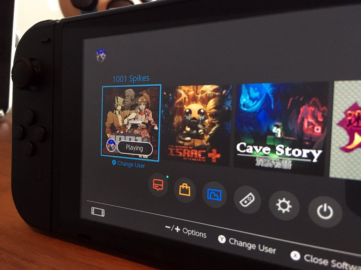 New UI screenshot reveals themes and more games for Nintendo Switch