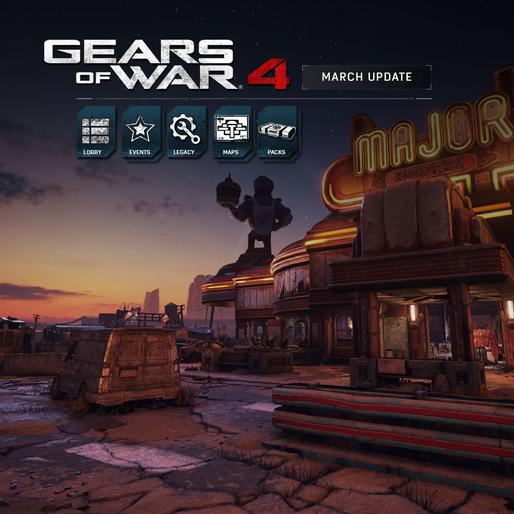 Gears of War 4 March update adds two new maps, new Ranked Lobby system & More