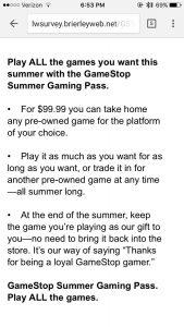 NeoGAF GameStop Summer Gaming Pass
