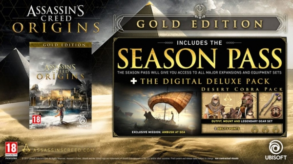 Assassin's Creed: Origins Season Pass and Free DLC Detailed and Dated