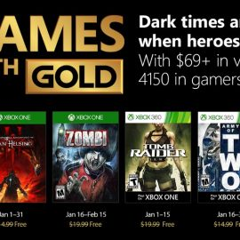 Games With Gold for January revealed.