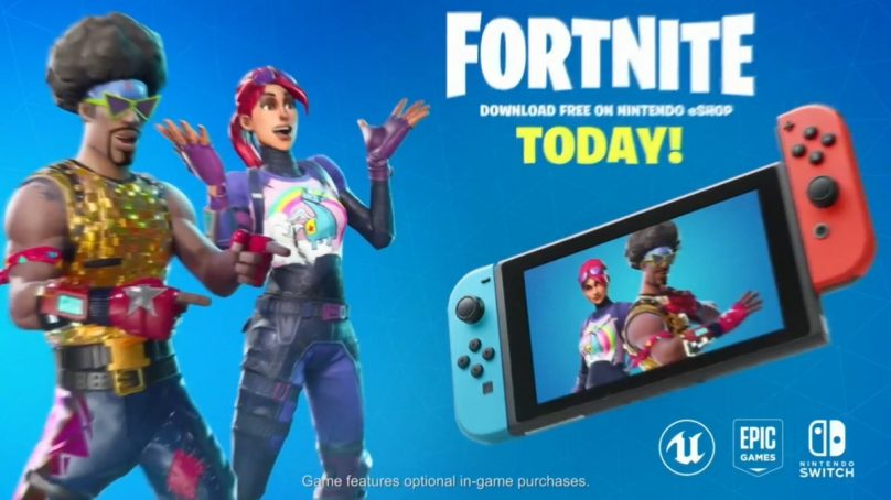 Fortnite arrives on Nintendo Switch with cross-play
