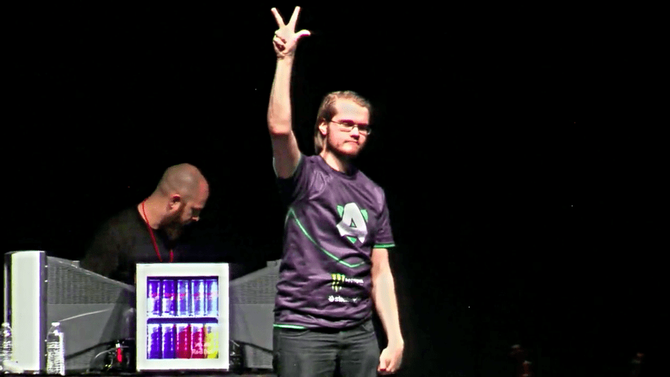 Armada after winning Genesis 4 in 2017. Image provided by