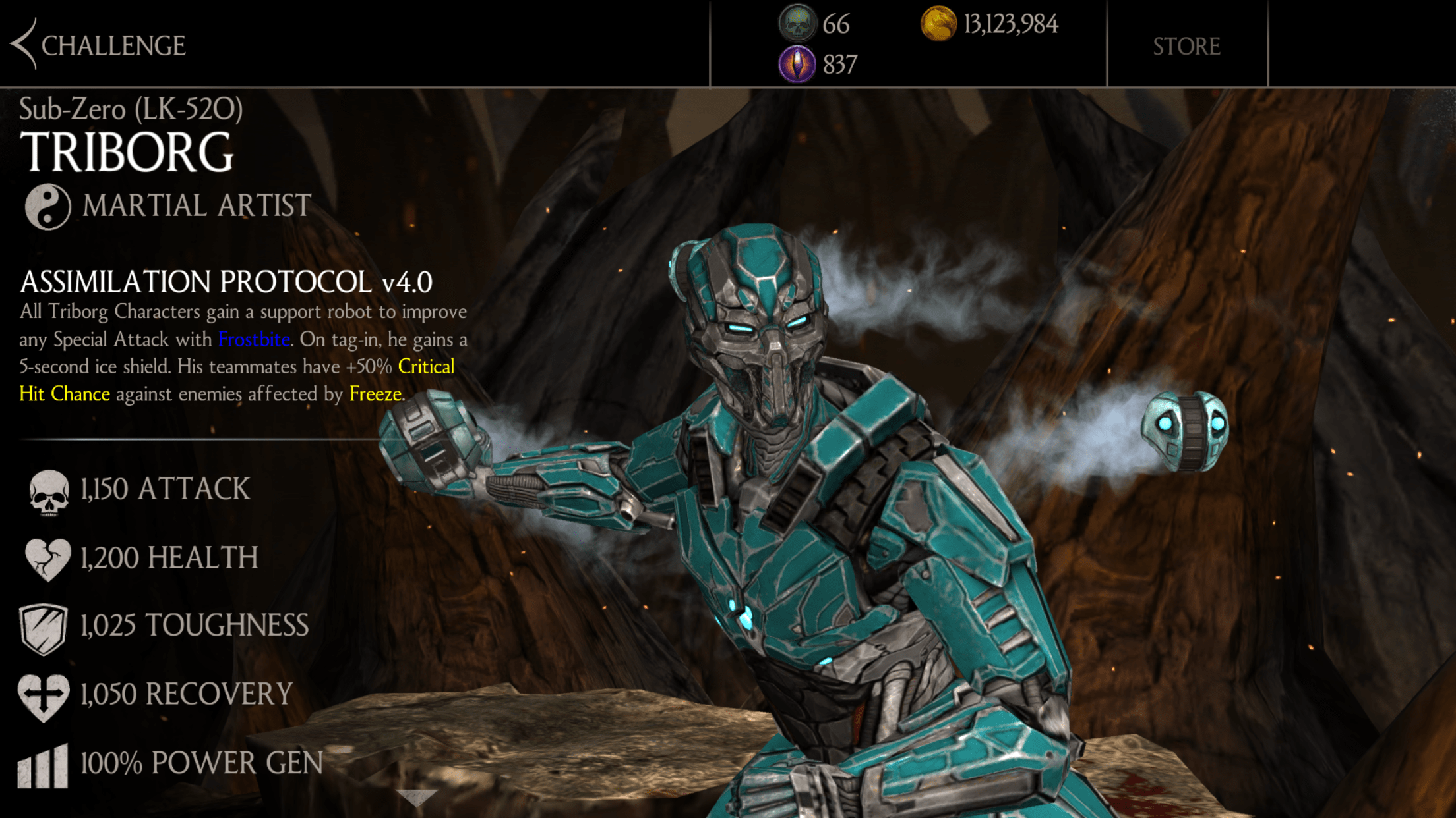 Sub Zero Triborg Is This Week S Mortal Kombat X Mobile Character
