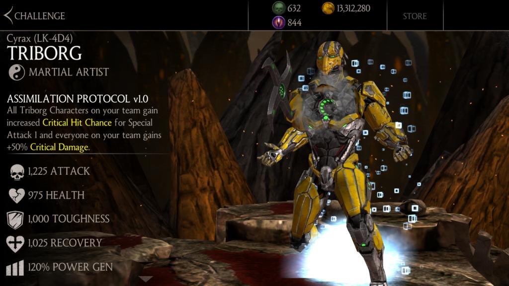 Smoke, Cyrax, and Sektor Triborg are this week's MKX mobile