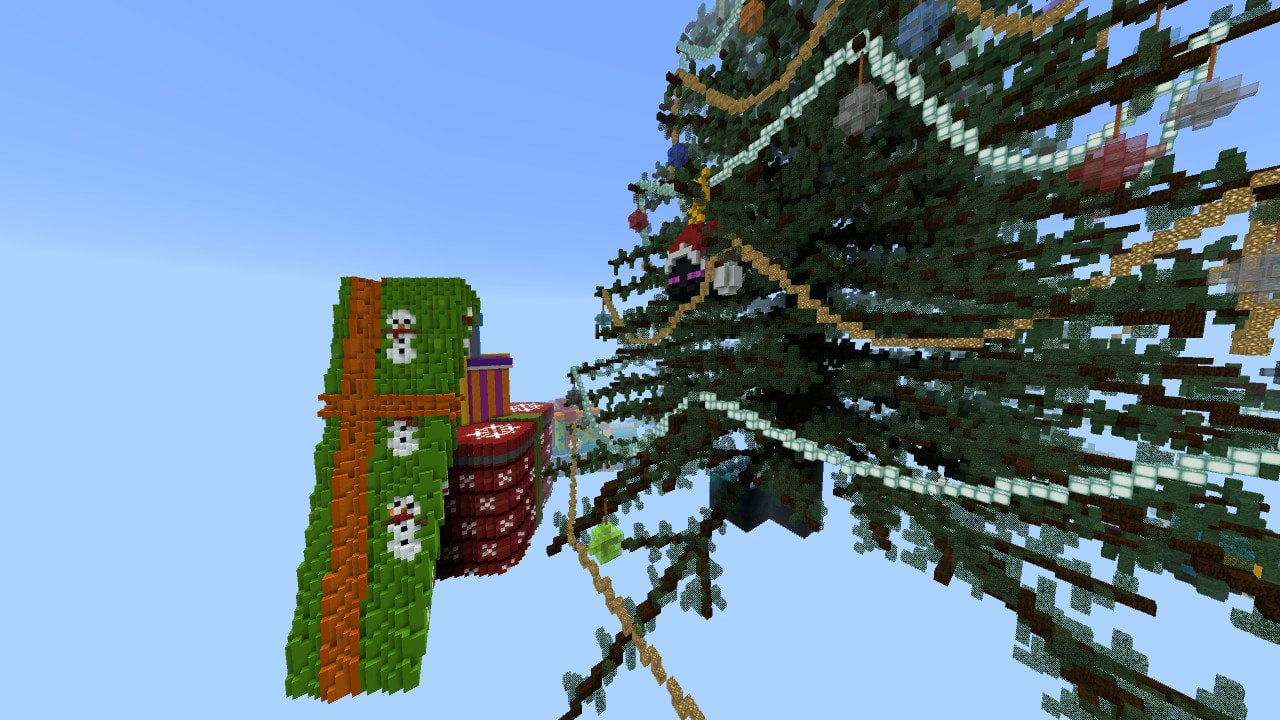 Minecraft Christmas Tree.Minecraft Bedrock Abstraction Gifts Review Rectify