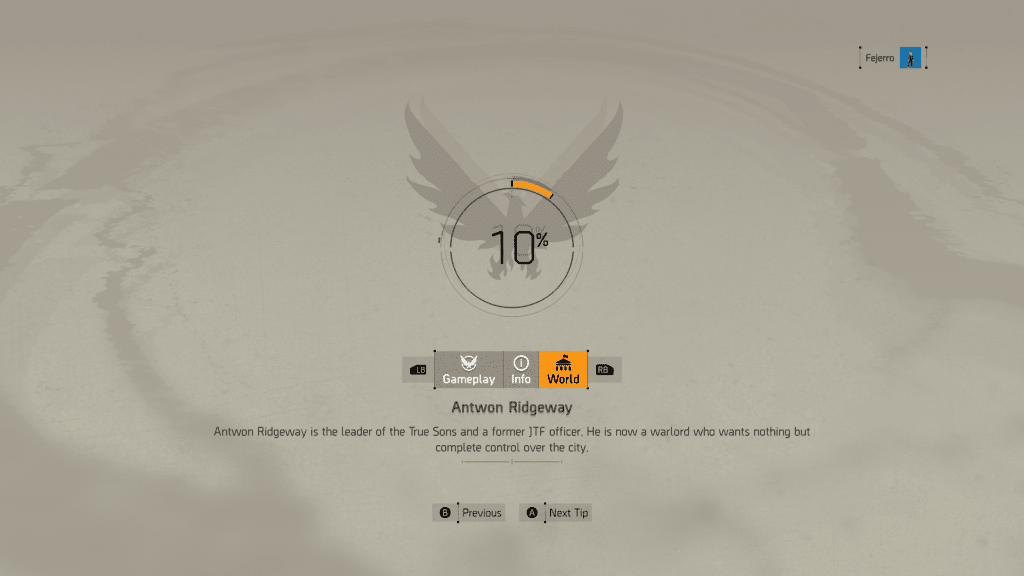 Division 2 Loading Screen